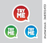 try me speech bubble | Shutterstock .eps vector #368501453