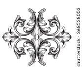 vintage baroque frame scroll...   Shutterstock .eps vector #368528003