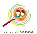 icon flat style concept target... | Shutterstock .eps vector #368530367