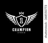 champion logo vector logo... | Shutterstock .eps vector #368550773