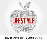 lifestyle apple word cloud ... | Shutterstock .eps vector #368559743