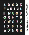 color alphabetic fonts and... | Shutterstock .eps vector #368571023