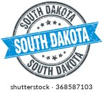 south dakota blue round grunge... | Shutterstock .eps vector #368587103
