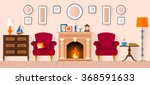 living room with furniture and... | Shutterstock .eps vector #368591633