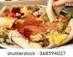 Typical Ethiopian Injera Food...