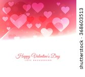 happy valentines day with... | Shutterstock .eps vector #368603513