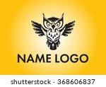 owl logo in black