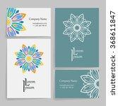 set of vector design templates. ...   Shutterstock .eps vector #368611847