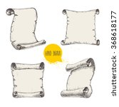 old scrolls sketch style set on ... | Shutterstock .eps vector #368618177