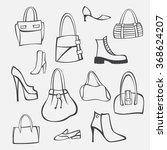 vector set of accessories | Shutterstock .eps vector #368624207