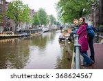 young couple cucazian enjoy the ... | Shutterstock . vector #368624567