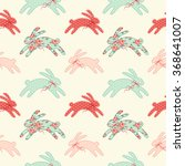 cute vintage easter seamless... | Shutterstock . vector #368641007