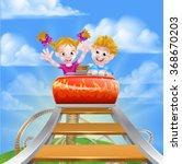 cartoon boy and girl children... | Shutterstock .eps vector #368670203