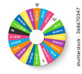 wheel of fortune. vector. | Shutterstock .eps vector #368670347