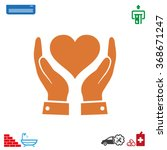 in the hands of the heart  icon ... | Shutterstock .eps vector #368671247