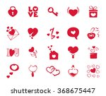 collection icons for valentines ... | Shutterstock .eps vector #368675447