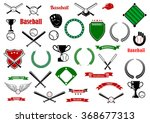 baseball game sport items and... | Shutterstock .eps vector #368677313