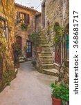 italian old ancient alley in... | Shutterstock . vector #368681717