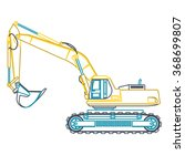Blue Yellow Outline Big Digger...