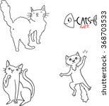 different breeds of cats  1 5  | Shutterstock .eps vector #368703533