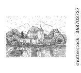 blutenburg castle in munich ...   Shutterstock .eps vector #368703737