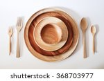 Wooden Plate Set With Fork And...