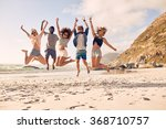 group of friends together on... | Shutterstock . vector #368710757