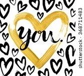 hand written  valentine day... | Shutterstock .eps vector #368711483
