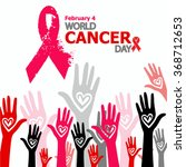 world cancer day. vector. | Shutterstock .eps vector #368712653