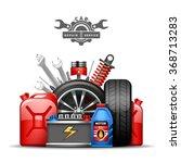 car service center colorful... | Shutterstock .eps vector #368713283