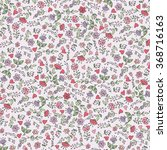 colored doodles floral pattern...