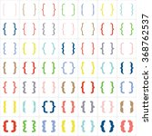 set of colored braces or curly... | Shutterstock .eps vector #368762537