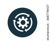 settings reload icon  on white...   Shutterstock .eps vector #368778437