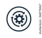 settings reload icon  on white...   Shutterstock .eps vector #368778467