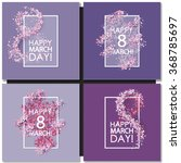 Set Of Women Day Cards...