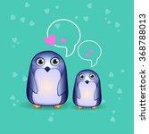 a cartoon penguin illustration... | Shutterstock .eps vector #368788013