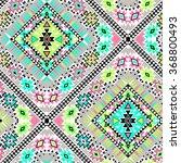 vector tribal aztec seamlesss... | Shutterstock .eps vector #368800493