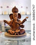 Small photo of The figure of the god Ganesh made of chocolate