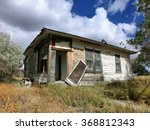 Abandoned Prairie Shack With...