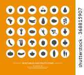 30 silhouette icons of... | Shutterstock .eps vector #368815907