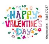 happy valentines day | Shutterstock . vector #368817257