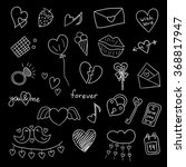 icons happy valentine's day.... | Shutterstock . vector #368817947