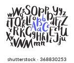 female lettering alphabet. hand ... | Shutterstock .eps vector #368830253