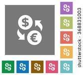 dollar euro exchange flat icon...