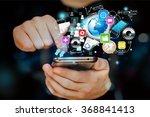mobile phone illustration. | Shutterstock . vector #368841413