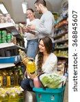 smiling customers choosing seed ... | Shutterstock . vector #368845607