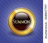 summon gold badge or emblem   Shutterstock .eps vector #368847797