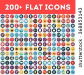 Flat vector icons pack | Shutterstock vector #368853143