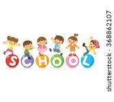 the title of the school and... | Shutterstock .eps vector #368862107