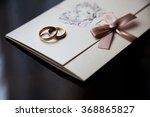 wedding rings on the invitation ... | Shutterstock . vector #368865827